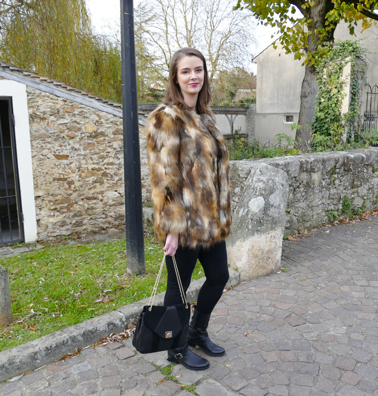look fausse fourrure